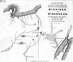 Map Of The United States In 1840 by May 2016 Chequamegon History