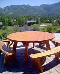 Build A Round Picnic Table by Round Picnic Table Plans Woodworking Pinterest Round Picnic