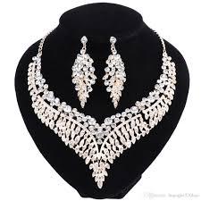 engagement jewelry sets 2018 fashion bridal jewelry sets wedding engagement necklace