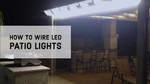 Patio Lights How To Wire Led Patio Lights