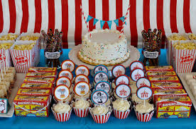 Circus Candy Buffet Ideas by Home Interior Garden Circus Party Decorations
