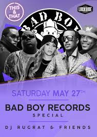 Bad Boy Records This And That Bad Boy Records Special Lockside Camden London