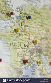Map Central Europe by Map Europe Cities Pins Card Central Europe France Switzerland
