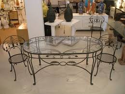 Oval Wrought Iron Patio Table by Rod Iron Dining Room Set Black Iron Dining Room Chairs Wooden
