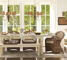pottery barn dining table chairs wood