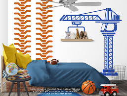 169 Best Wall Decals Images by Construction Crane Vinyl Wall Decal Boys Bedroom Wall Decal