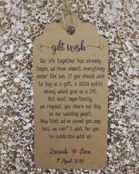 register wedding gifts 5 x wedding poem cards for invitations money gift honeymoon