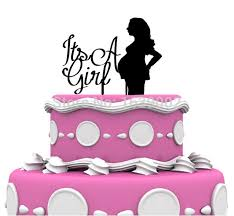 woman cake topper its a girl woman shower acrylic cake topper baby shower