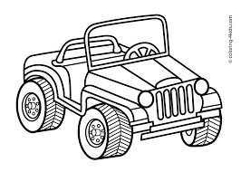 jeep transportation coloring pages for kids printable jungle