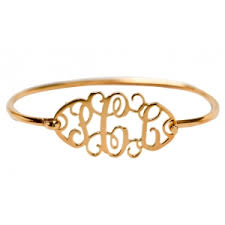 monogram initial bracelet will probably punch me if i suggest a push present but it s