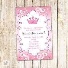 Princess Invitation Card Princess Birthday Invitation Card Butterfly Custom 1st