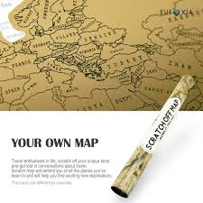 Scratch Off Map Eutuxia Travel Scratch World Map 34x20 Inch Track Places Where