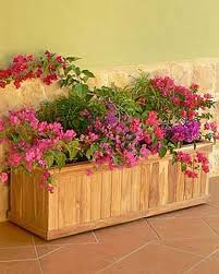 Garden Wall Troughs by Wood Planter Box Estate Teak Trough Planter Gardeners Supply