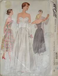 vintage wedding dress patterns mccall 8235 1950s vintage wedding dress or cocktail dress pattern