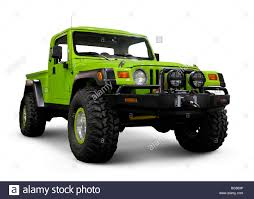 custom jeep custom jeep wrangler tj with large wheels stock photo royalty