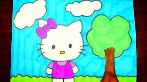 draw kitty easy step step kids