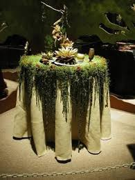 forest green table linens forest grill postcard enchanted forest project table scape ideas