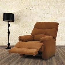 kinbor suede heated massage recliner sofa chair ergonomic lounge