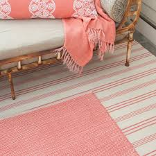 Herringbone Jute Rug Herringbone Woven Cotton Rug In Coral Design By Dash U0026 Albert