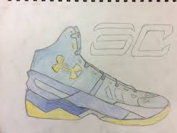 stephen curry shoe sketchbook drawing stephen curry shoes curry