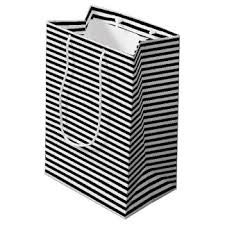 black and white striped gift bags black and white stripe gift bags zazzle