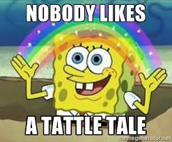 Meme Writing Generator - nobody likes a tattle tale spongebob meme generator fnaf