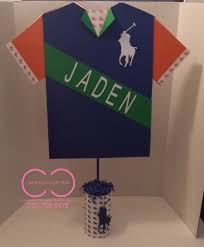 polo baby shower decorations horsemen shirt centerpiece creative collection by shon official
