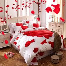2018 rose bedding romantic rose print duvet cover set valentines