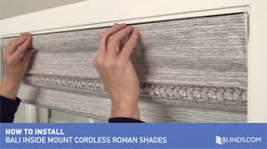 Bali Vertical Blinds Installation How To Install Bali Cordless Roman Shades Inside Mount U0026raquo
