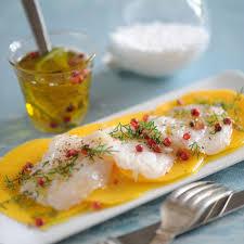 cuisine bar poisson carpaccio de bar à la mangue recette recette carpaccio