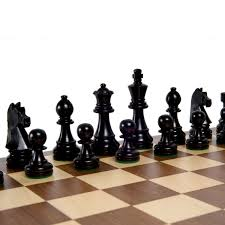 amazon com classic wood chess pieces with 3 3 4 inch king toys