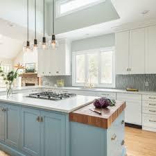kitchen backsplash ideas with white cabinets houzz 75 beautiful kitchen with blue backsplash pictures ideas