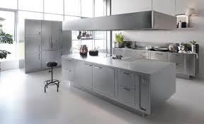 stainless steel kitchen islands sleek and sumptuous stainless steel kitchen by abimis