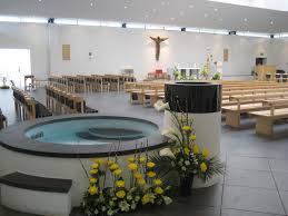 baptism pools view of the church across the baptismal pool st bede s basingstoke
