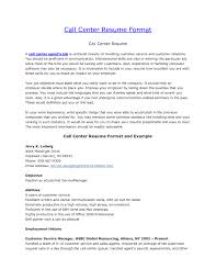 Cio Resume Sample by Resume Sample Call Center Free Resume Example And Writing Download