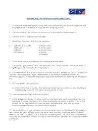 natural science 1 extension worksheets answer keys cell