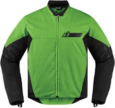 mens textile motorcycle jacket mens icon green textile stealth konflict motorcycle riding street