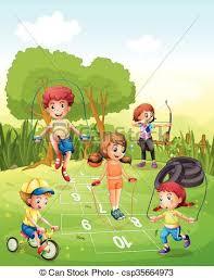 giardino bambini bambini esercitarsi giardino bambini giardino