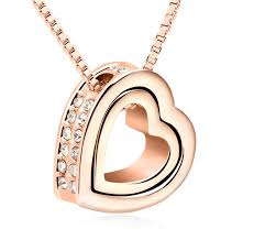 elegant heart necklace images Eternal love heart pendant gold plated fashion jewelry necklace jpg
