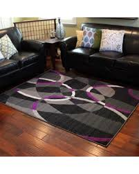 Area Rugs With Purple Here U0027s A Great Deal On Donnieann Trendz Grey And Purple Geometric