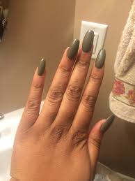 coffin matte olive green nails salon prettynails in fairlawn oh