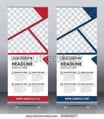 roll banner template design brochure flyer stock vector 558505315