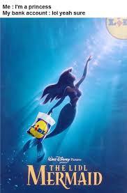 Mermaid Meme - when you re being a lidl too optimistic 9gag