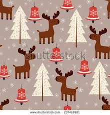moose wrapping paper winter vector seamless pattern moose christmas stock vector