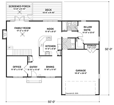 In Law Suite House Plans Colonial Style House Plan 4 Beds 3 00 Baths 2097 Sq Ft Plan 56 244