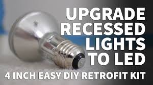 Dimmable Led Light Bulbs For Recessed Lighting by How To Install Retrofit Led Lights 4 Inch Kit Dimmable Led