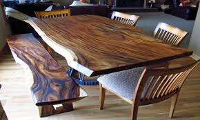 Natural Slab Dining Table Dining Benches And Tables Natural Wood Slab Dining Table Wood