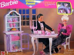 barbie dining room set barbie doll all around home dining room playset barbie 1 6