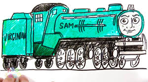 how to coloring and drawing ashima thomas and friends coloring