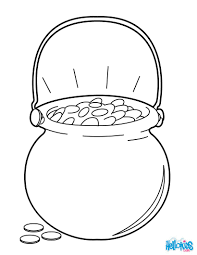pot o gold cauldron coloring pages hellokids com